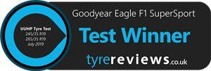 Tyre Reviews, July 2019 Rozměr: 245/35 R19, 265/35 R19 Vítěz testu