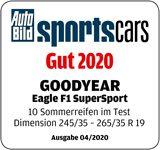 Auto Bild sportscars Rozměr: 245/35 R19 FA, 265/35R19 RA Dobrá, 3. místo z 10
